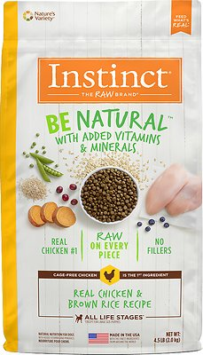 Instinct by Nature's Variety Be Natural Real Chicken & Brown Rice Recipe Dry Dog Food, 4.5-lb bag