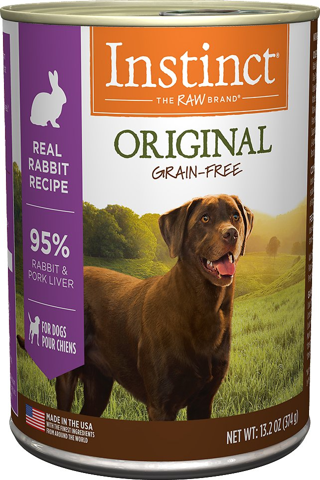 Instinct by Nature's Variety Original Grain-Free Real Rabbit Recipe Natural Wet Canned Dog Food, 13.2-oz