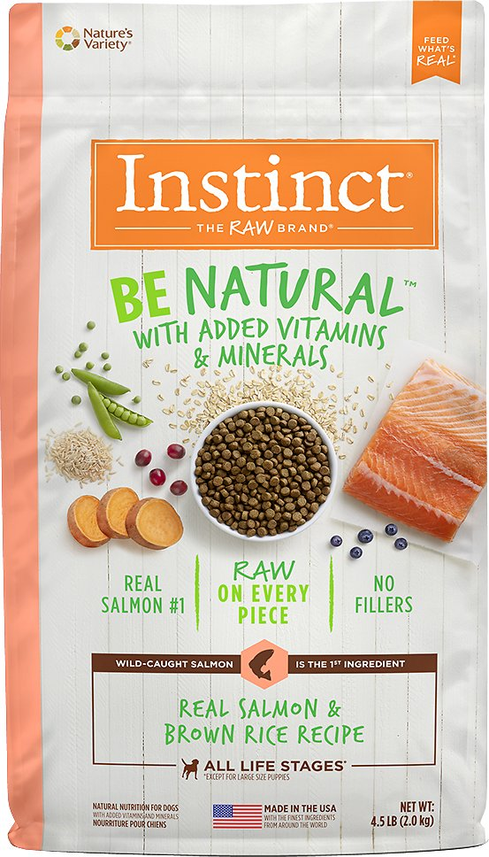 Instinct by Nature's Variety Be Natural Real Salmon & Brown Rice Recipe Dry Dog Food, 4.5-lb bag