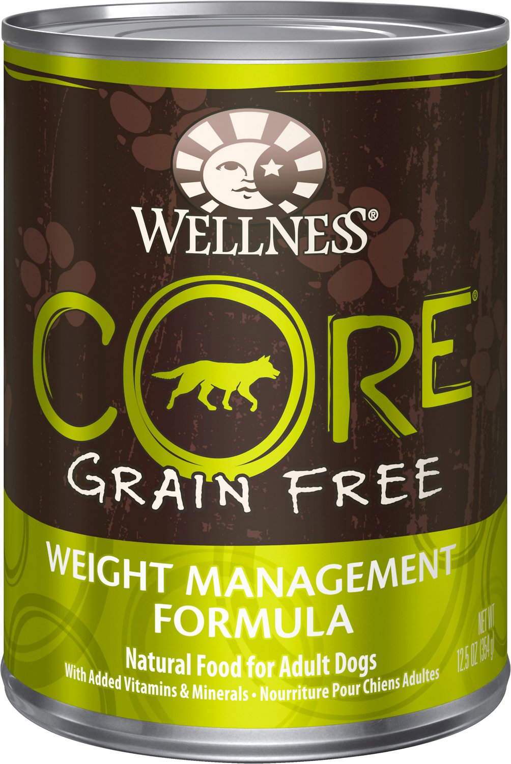 Wellness CORE Grain-Free Weight Management Formula Canned Dog Food, 12.5-oz