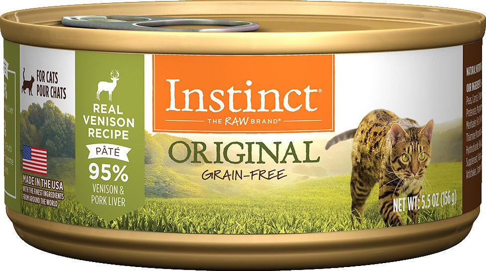 Instinct by Nature's Variety Original Grain-Free Real Venison Recipe Natural Wet Canned Cat Food