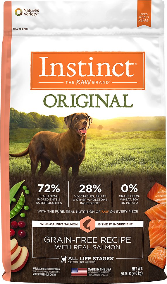 Instinct by Nature's Variety Original Grain-Free Recipe with Real Salmon Dry Dog Food Image