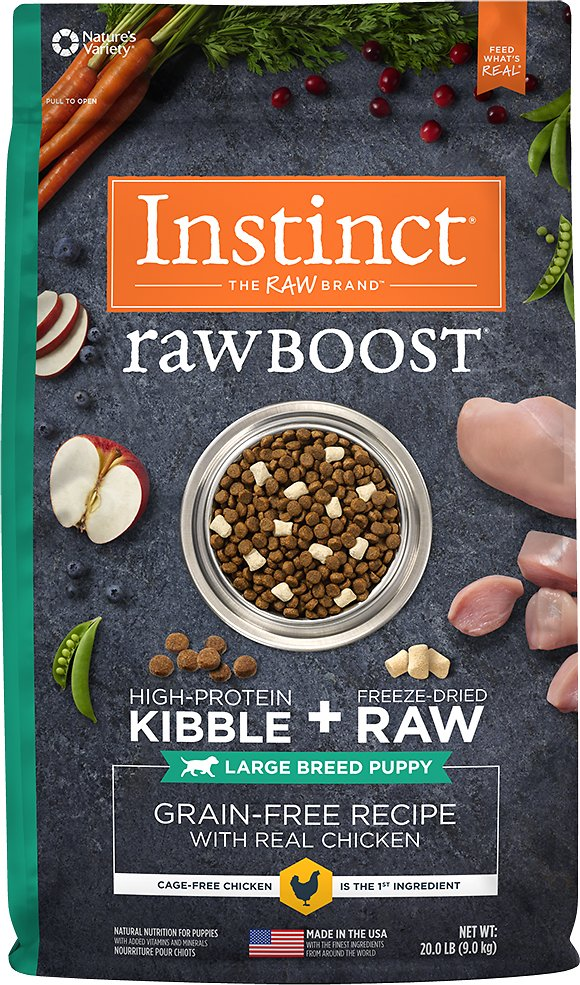 Instinct by Nature's Variety Raw Boost Large Breed Puppy Grain-Free Recipe with Real Chicken Dry Dog Food, 20-lb bag