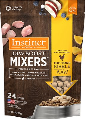 Instinct by Nature's Variety Raw Boost Mixers Chicken Recipe Freeze-Dried Dog Food Topper, 6-oz bag