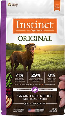 Instinct by Nature's Variety Original Grain-Free Recipe with Real Rabbit Dry Dog Food