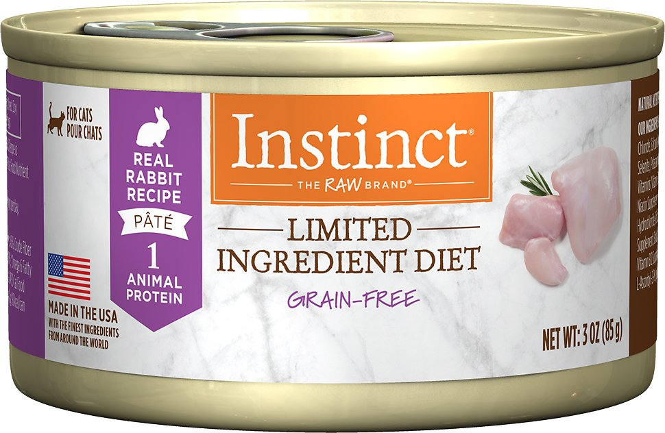 Instinct by Nature's Variety Limited Ingredient Diet Grain-Free Real Rabbit Recipe Natural Wet Canned Cat Food, 3-oz