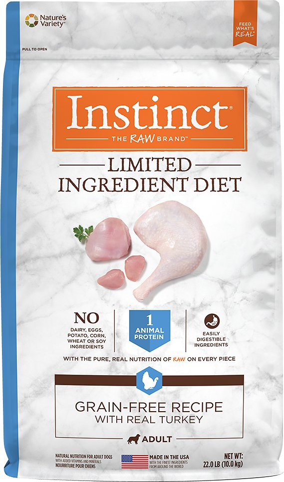 Instinct by Nature's Variety Limited Ingredient Diet Grain-Free Recipe with Real Turkey Dry Dog Food Image