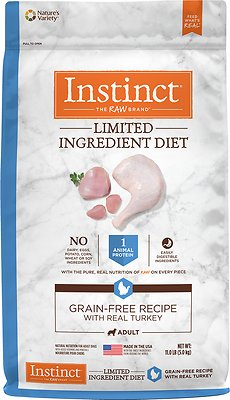 Instinct by Nature's Variety Limited Ingredient Diet Grain-Free Recipe with Real Turkey Dry Dog Food, 11-lb bag