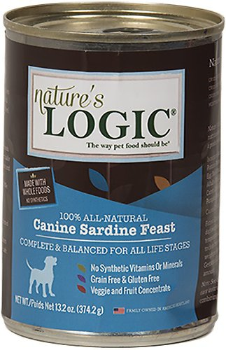 Nature's Logic Canine Sardine Feast Grain-Free Canned Dog Food, 13.2-oz