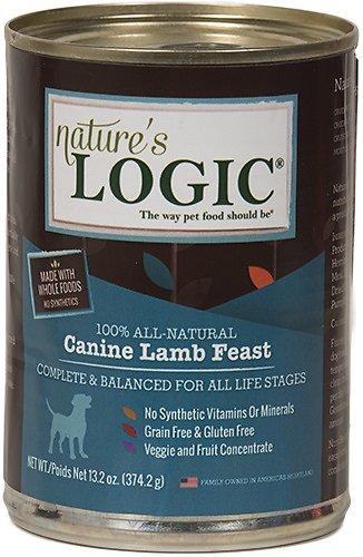 Nature's Logic Canine Lamb Feast Grain-Free Canned Dog Food, 13.2-oz