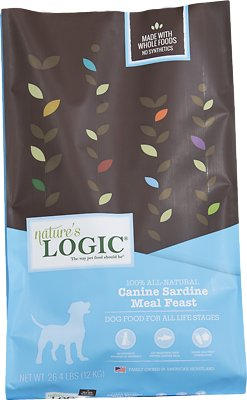 Nature's Logic Canine Sardine Meal Feast Dry Dog Food, 26.4-lb bag