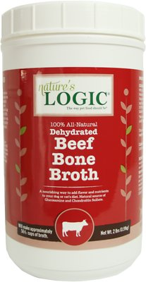 Nature's Logic Dehydrated Beef Bone Broth Dog & Cat Supplement, 2-lb tub