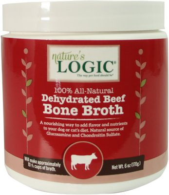 Nature's Logic Dehydrated Beef Bone Broth Dog & Cat Supplement, 6-oz tub
