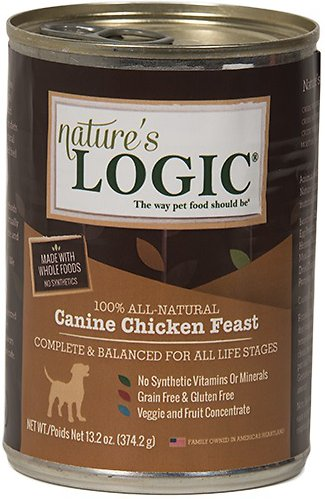 Nature's Logic Canine Chicken Feast Grain-Free Canned Dog Food, 13.2-oz
