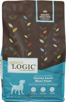 Nature's Logic Canine Lamb Meal Feast Dry Dog Food, 4.4-lb bag