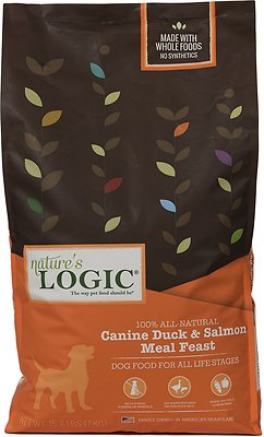 Nature's Logic Canine Duck & Salmon Meal Feast Dry Dog Food, 15.4-lb bag