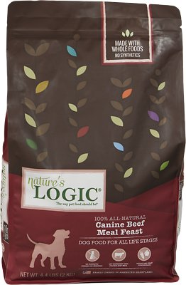 Nature's Logic Canine Beef Meal Feast Dry Dog Food, 4.4-lb bag