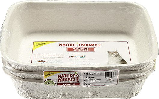 Nature's Miracle Disposable Cat Litter Box 3 Pack