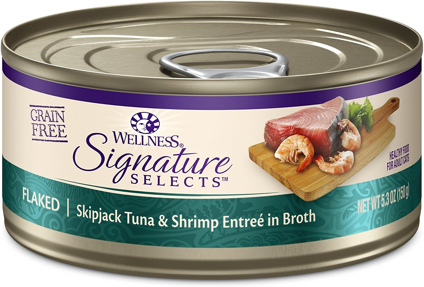 Wellness CORE Signature Selects Flaked Skipjack Tuna & Shrimp Entree in Broth Grain-Free Canned Cat Food