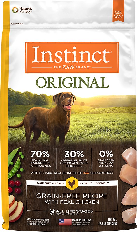 Instinct by Nature's Variety Original Grain-Free Recipe with Real Chicken Dry Dog Food Image