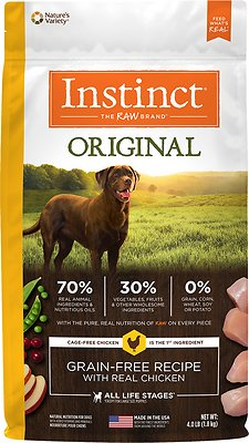 Instinct by Nature's Variety Original Grain-Free Recipe with Real Chicken Dry Dog Food, 4-lb bag