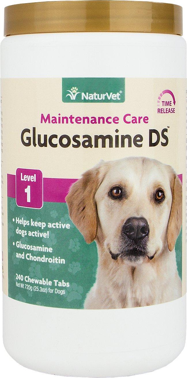 NaturVet Maintenance Care Glucosamine DS Level 1 Dog Tablets