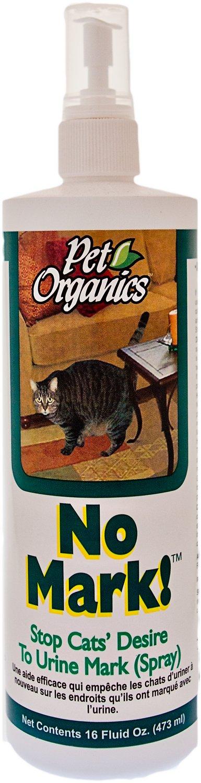 NaturVet Pet Organics No Mark! Stops Cats' Desire to Urine Mark, 16-oz bottle