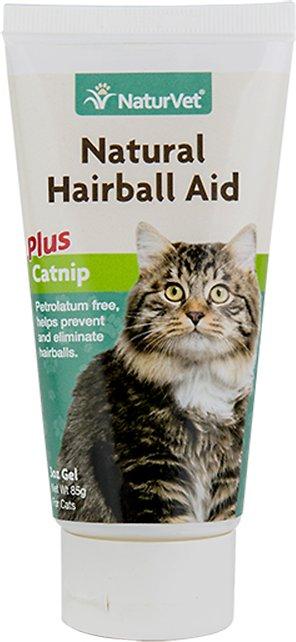 NaturVet Natural Hairball Aid with Catnip Cat Gel, 3-oz bottle