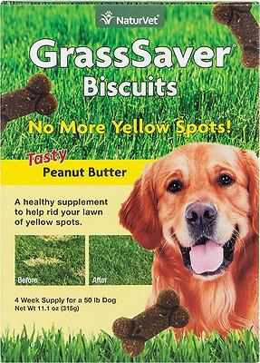 NaturVet GrassSaver Biscuits Peanut Butter Flavored Dog Treats, 11.1-oz