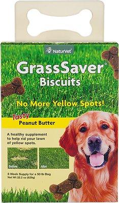 NaturVet GrassSaver Biscuits Peanut Butter Flavored Dog Treats, 22.2-oz