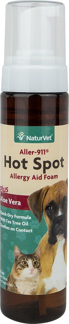 NaturVet Aller 911 Allergy Aid Hot Spot Plus Aloe Vera Dog & Cat Foam, 8-oz bottle
