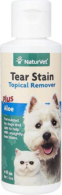 NaturVet Tear Stain Remover Dog & Cat Liquid Topical Formula, 4-oz bottle