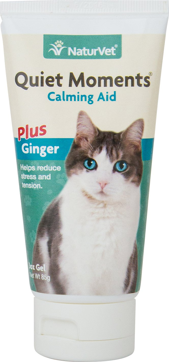 NaturVet Quiet Moments Calming Aid Plus Ginger Cat Gel, 3-oz bottle