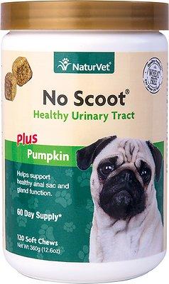 NaturVet No Scoot Dog Soft Chews, 120-count
