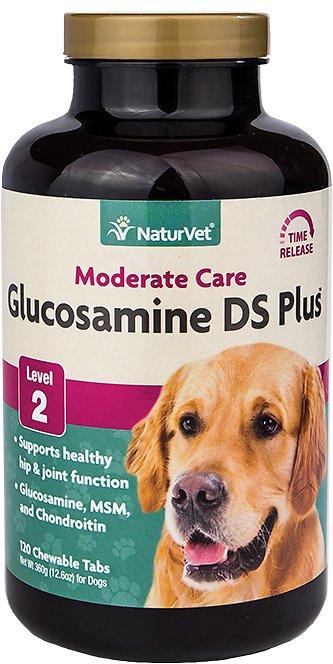 NaturVet Moderate Care Glucosamine DS Level 2 Max Formula Dog Tablets