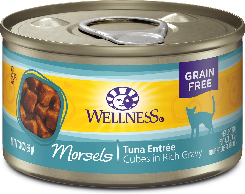 Wellness Cubed Tuna Entree Grain-Free Canned Cat Food, 5.5-oz