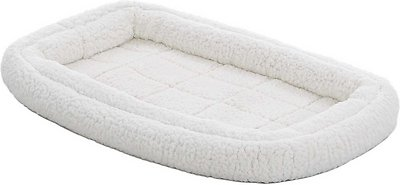 MidWest Quiet Time Deluxe Double Bolster Pet Bed, Fleece, 22-in