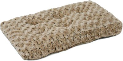 MidWest Quiet Time Ombre Swirl Dog & Cat Bed, Taupe, 24-in