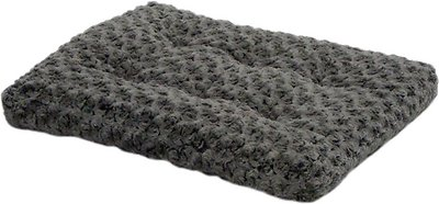 MidWest Quiet Time Ombre Swirl Dog & Cat Bed, Grey, 22-in