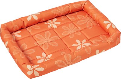 MidWest Paradise Teflon Fabric Protector Pet Bed, Orange Floral, 24-in