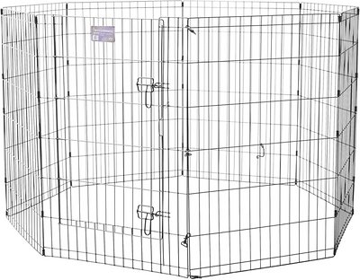 MidWest Exercise Pen with Step-Thru Door, Black E-Coat, 36-in