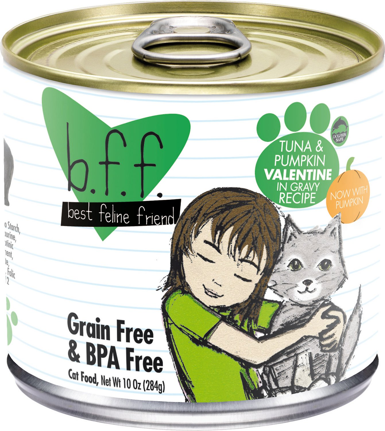 BFF Originals Valentine Tuna & Pumpkin Dinner in Gravy Grain-Free Wet Cat Food, 3-oz