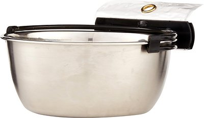 MidWest Stainless Steel Snap'y Fit Dog Kennel Bowl, 4 cup