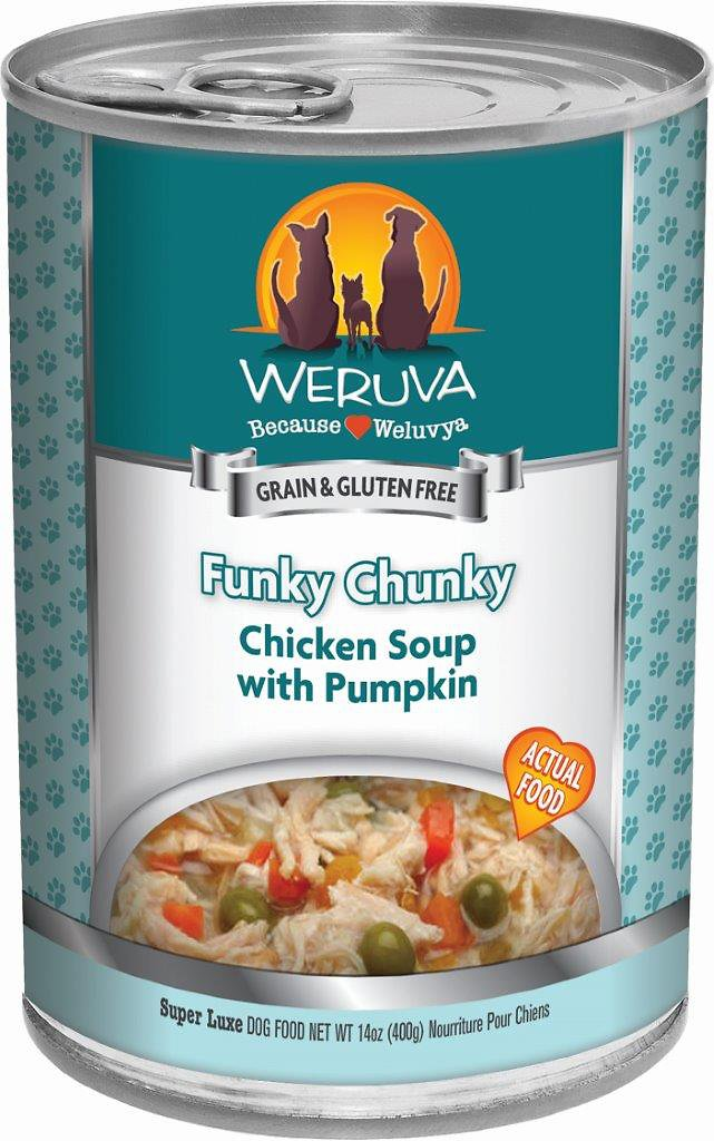 Weruva Dog Classic Funky Chunky Chicken Soup with Pumpkin Grain-Free Wet Dog Food, 5.5-oz