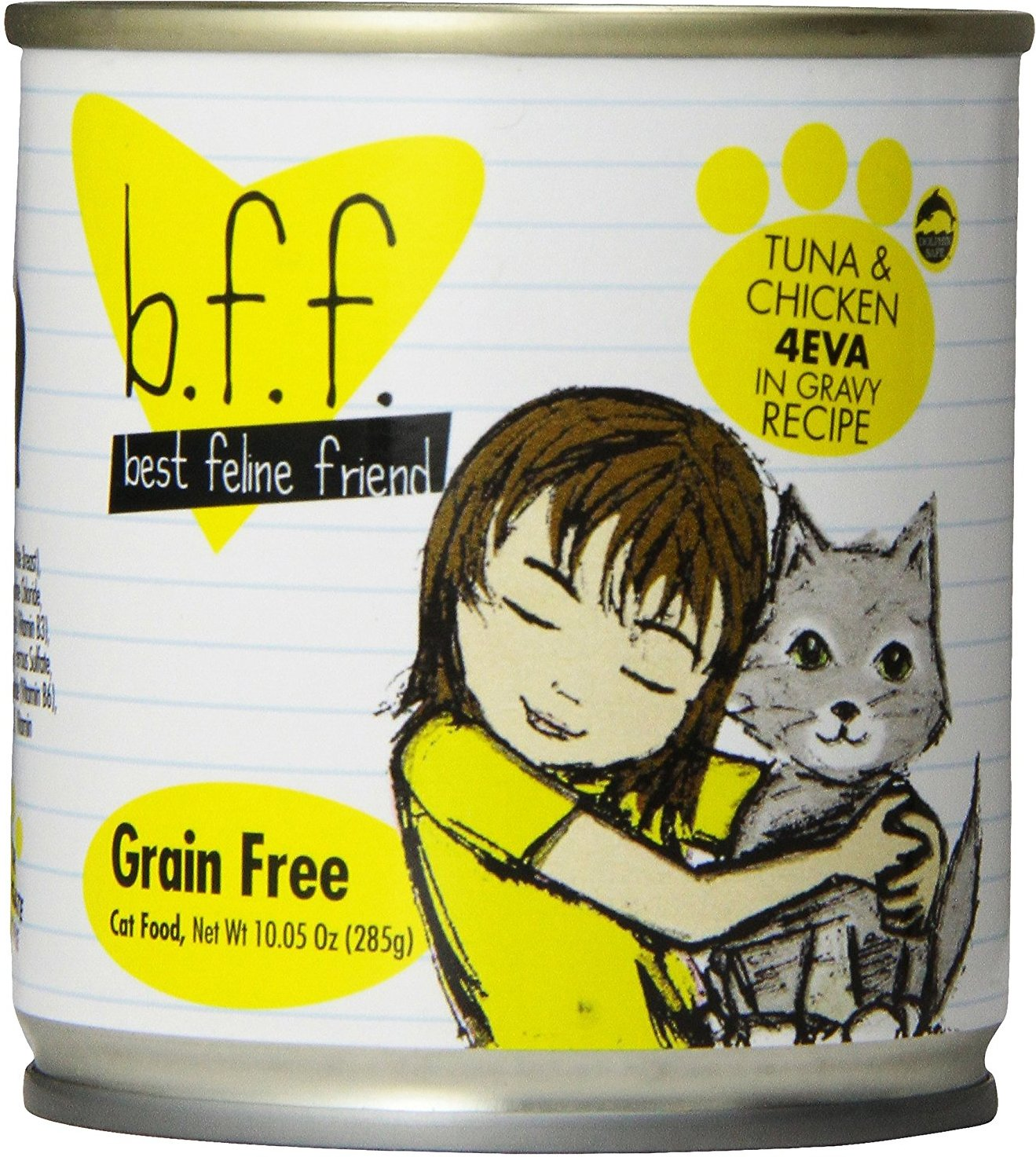 BFF Originals 4EVA Tuna & Chicken Dinner in Gravy Grain-Free Wet Cat Food, 10-oz
