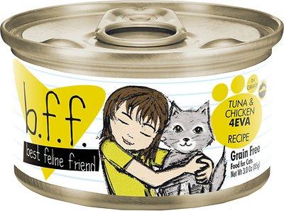 BFF Originals 4EVA Tuna & Chicken Dinner in Gravy Grain-Free Wet Cat Food, 3-oz, case of 24 Size: 3-oz, case of 24