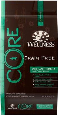 Wellness CORE Grain-Free Wild Game Duck, Turkey, Boar & Rabbit Recipe Dry Dog Food, 26-lb bag