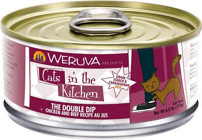 Weruva Cats in the Kitchen The Double Dip Chicken & Beef Au Jus Grain-Free Wet Cat Food, 6-oz, case of 24