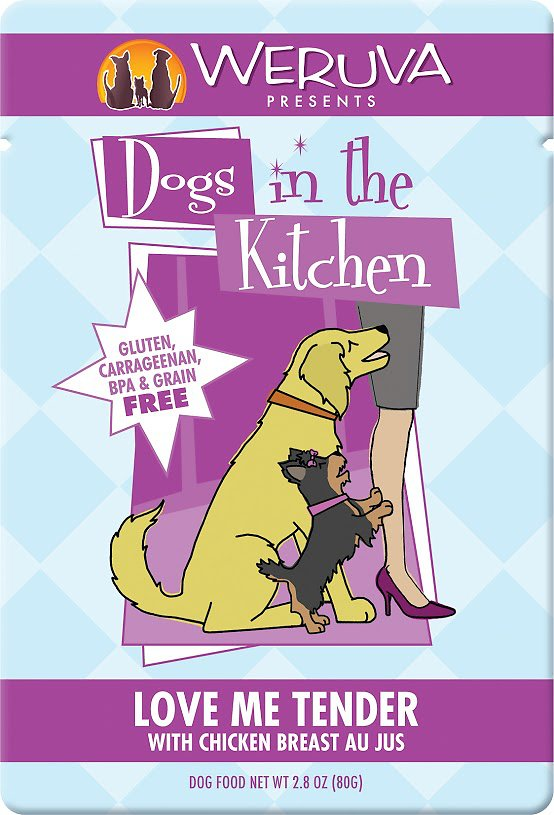 Weruva Dogs in the Kitchen Love Me Tender with Chicken Breast Au Jus Grain-Free Wet Dog Food, 2.8-oz