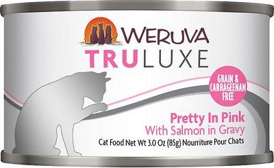 Weruva Cat Truluxe Pretty In Pink with Salmon in Gravy Grain-Free Wet Cat Food, 3-oz, case of 24